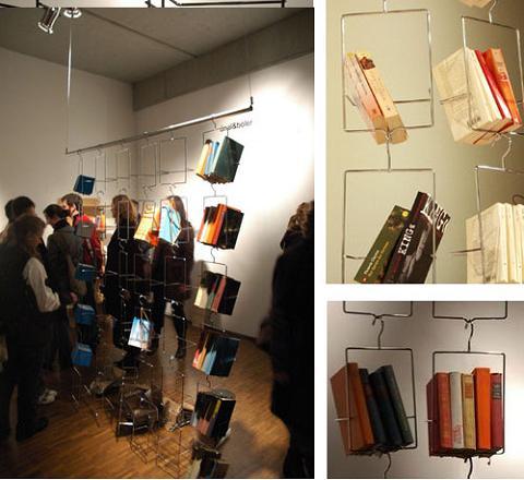 Perchero para almacenar libros - Perchas pared originales ...