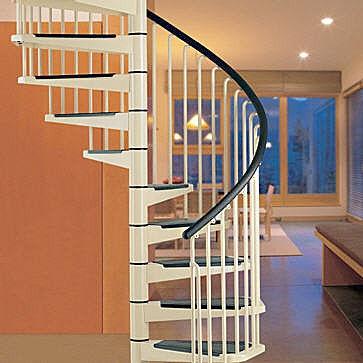 Escaleras para espacios peque os for Como trazar una escalera de caracol de concreto