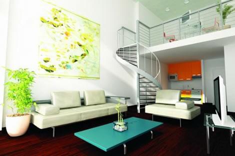 Decorar un loft - Combinar color naranja decoracion ...