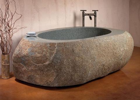 Ba os hechos con piedra esculpida - Banos con piedra natural ...