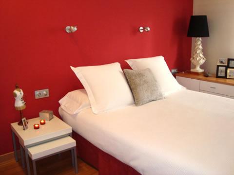 Decoraci n en color rojo - Colores para pintar dormitorios juveniles ...