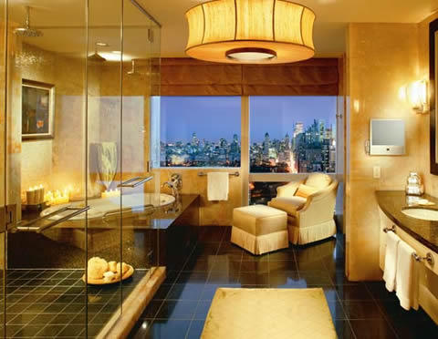 Decoraci n en habitaciones de hoteles for Most stylish bathrooms