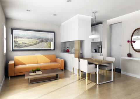 Consejos e ideas para pisos peque os for Interiores de casas chicas