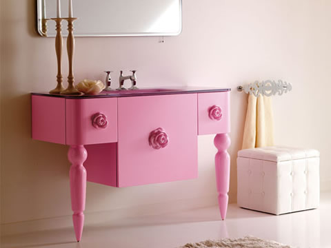 Colecci n de muebles de ba o retro modernos for Muebles italianos modernos