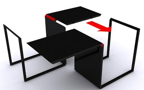 Muebles multifunci n para espacios peque os - Muebles de salon para pequenos espacios ...