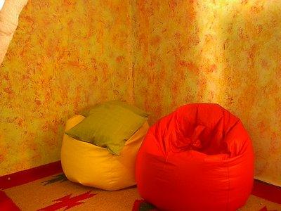 Trucos para difuminar el color de las paredes - Tecnicas para pintar paredes interiores ...