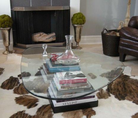 Mesa de cristal noguchi table - Mesa centro madera y cristal ...