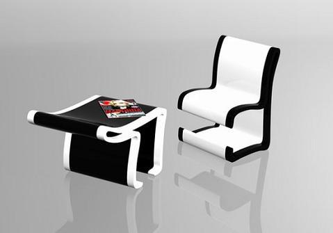 silla que se convierte en mesa