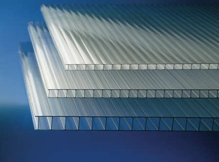 Placa policarbonato transparente
