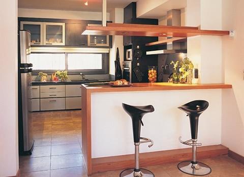 Barras americanas de cocina Barra cocina madera
