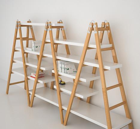 Escalera que se convierte en estanter a - Estanterias en escalera ...