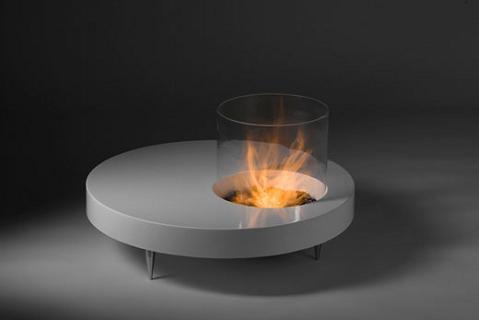 Mesas con chimenea incorporada - Chimenea de mesa ...