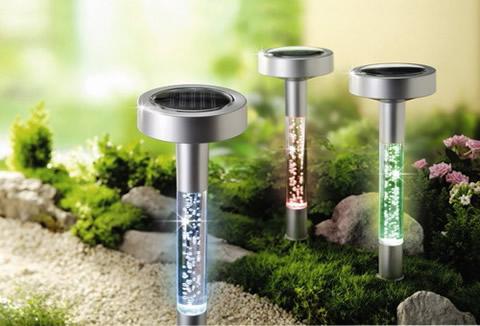 L mparas solares para iluminaci n exterior for Iluminacion solar de jardin