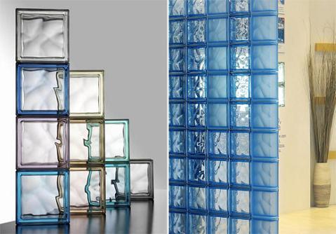 Ladrillos de vidrio para el ba o - Pared de bloques de vidrio ...