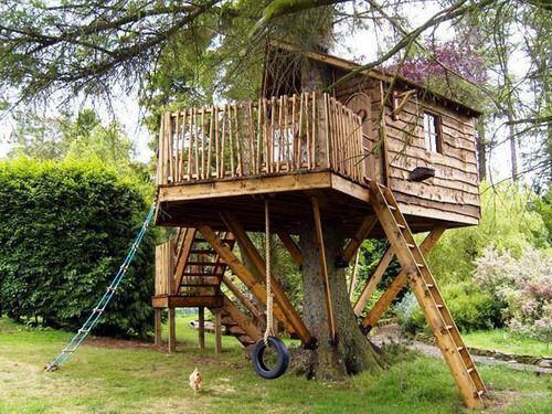 Casas rbol de madera for Casa del arbol cuenca