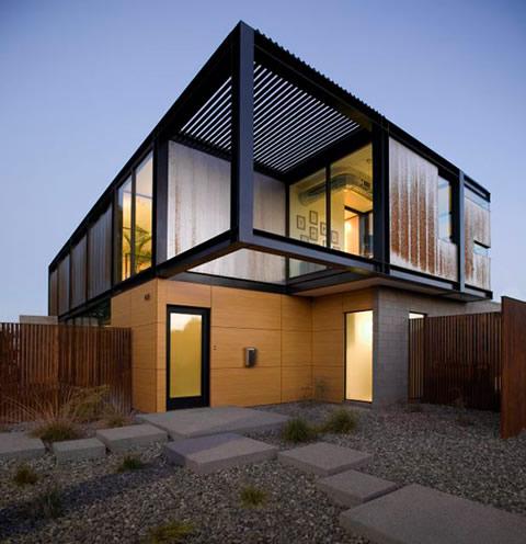 Casa con estilo chic industrial - Estructuras de acero para casas ...