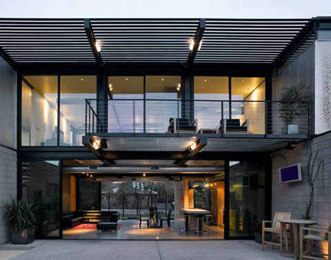 Casa con estilo chic industrial Industrial home plans