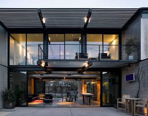 Casa con estilo chic industrial for Casas de estilo industrial