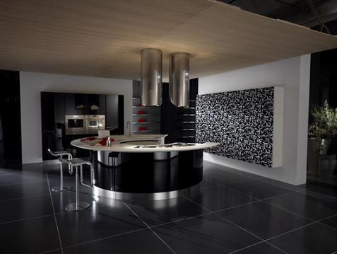 cocina lujo negro