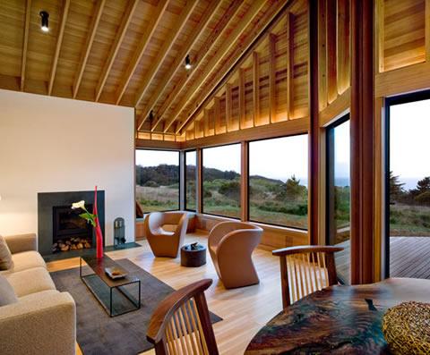 Casa de madera natural for Sea ranch house