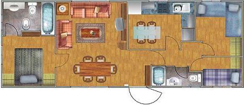 Planos de casas prefabricadas for Cuanto cuesta pintar un piso de 100 metros