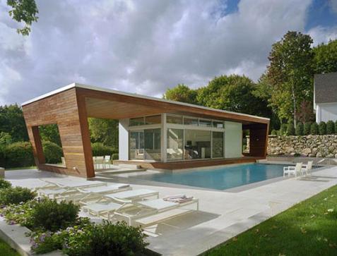 Casa con piscina minimalista for Casa minimalista 6 x 12