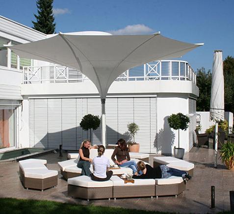 sombrillas para terrazas de mdt. Black Bedroom Furniture Sets. Home Design Ideas