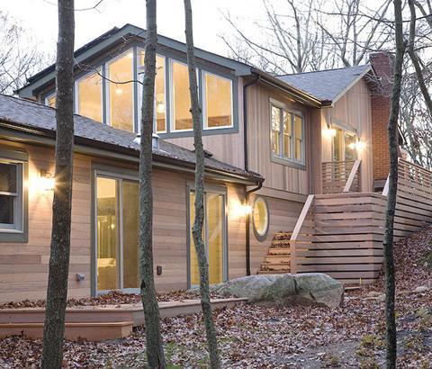 Casa de madera en el bosque - Casas el bosque ...