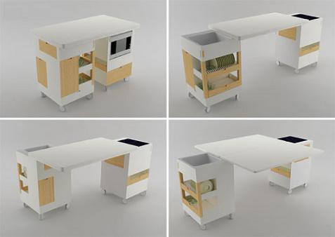Peque a cocina minimalista - Comedores bonitos y modernos ...