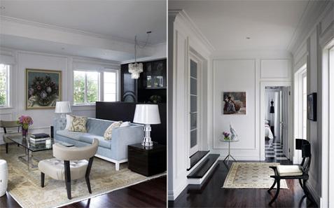 Interiores a base de blanco y negro - Casas decoradas en blanco ...