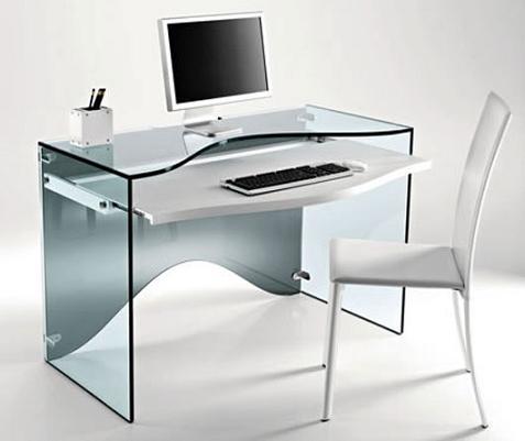 Escritorio de cristal de karim rashid - Mesa escritorio cristal ikea ...