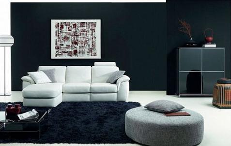 Salones en blanco y negro de natuzzi - Salones con sofa negro ...