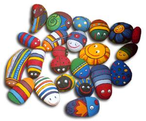 Pintar piedras para decorar for Tecnica para pintar piedras