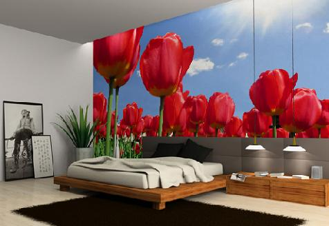 Decorablog revista de decoraci n for Murales de pared para dormitorios