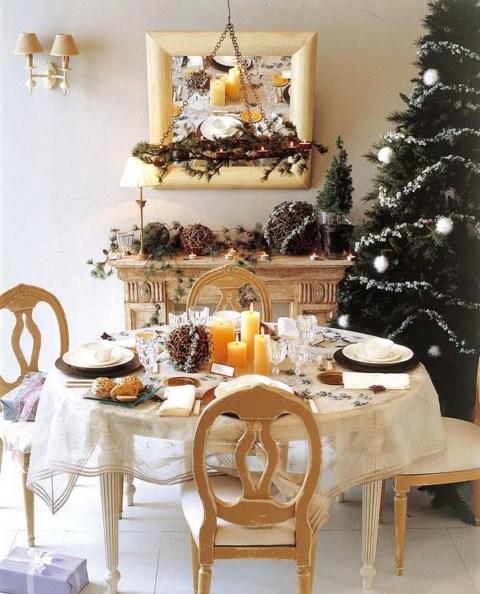 mesa navidad3 1600x1200 Ideas para decorar la mesa de Navidad