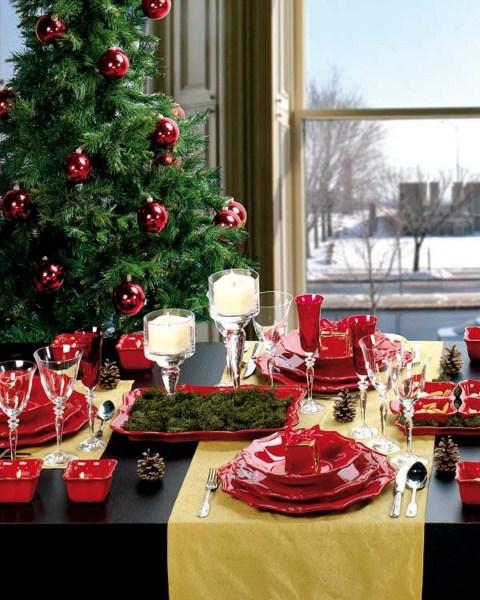 mesa navidad4 1600x1200 Ideas para decorar la mesa de Navidad