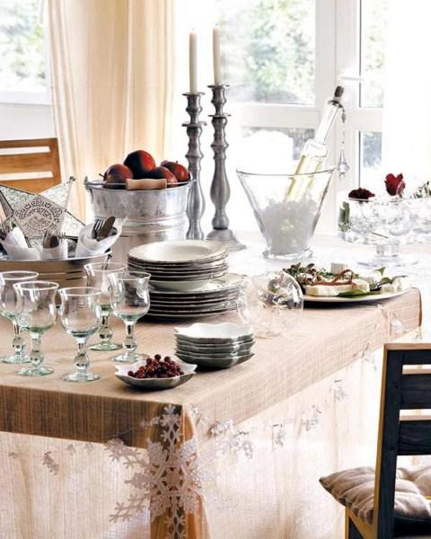 mesa navidad9 1600x1200 Ideas para decorar la mesa de Navidad