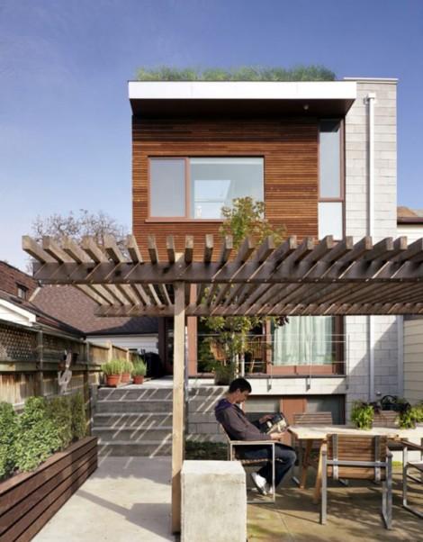 casa con jard n en el tejado