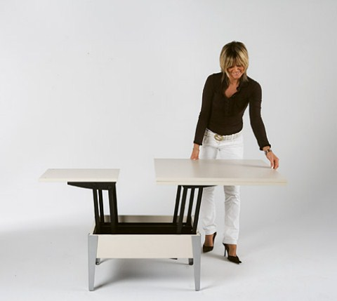 Easy mesa de centro que se convierte en mesa de comedor - Mesas de centro que se elevan ...