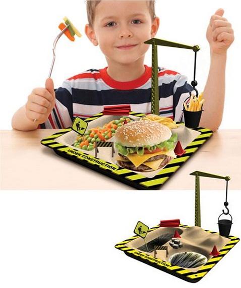 plato Plato para niños trabajadores
