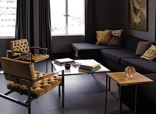 Sof s en forma de l - Sofas marrones decoracion ...