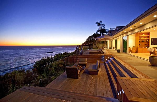 Casa exclusiva de lujo en la playa de mailbu - Ocean front house plans gallery ...