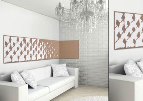 Paneles de corcho decorativos - Corcho decorativo paredes ...