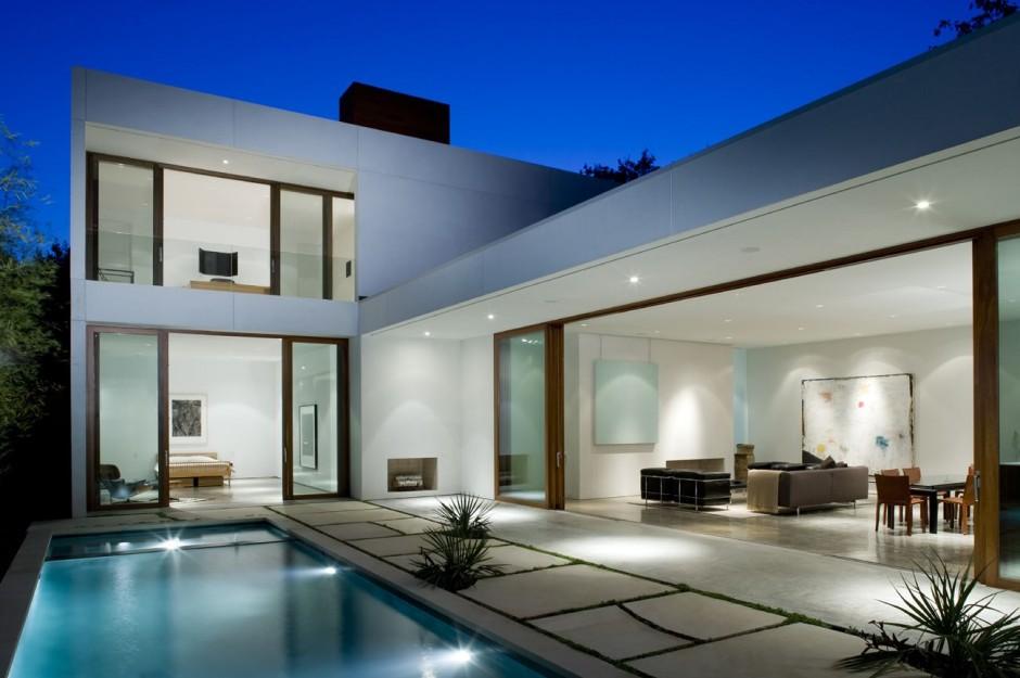 Residencia lujosa orientada la piscina for Casa de lujo minimalista y espectacular con piscina por a cero