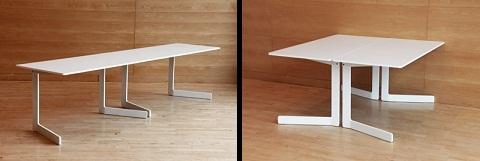 Mesa plegable minimalista for Mesa auxiliar plegable ikea