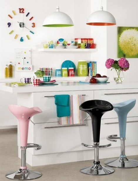 Pretty Bright Small Kitchen Color For Apartment Ideas Para Una Cocina Bar