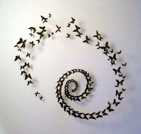 Mariposas para decorar - Como hacer mariposas de papel para decorar paredes ...