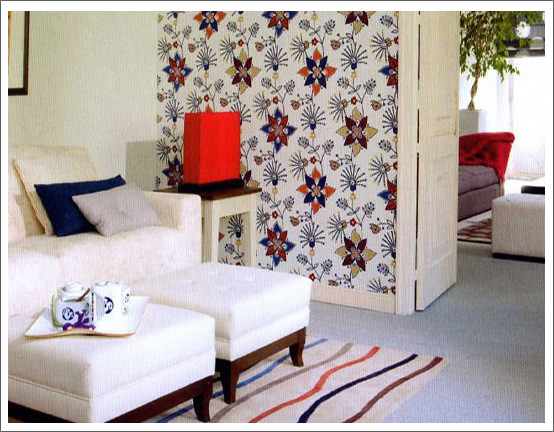 Revestimientos textiles para paredes for Papel para tapizar paredes