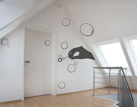 C mo colocar vinilos decorativos - Formas de pintar paredes interiores ...