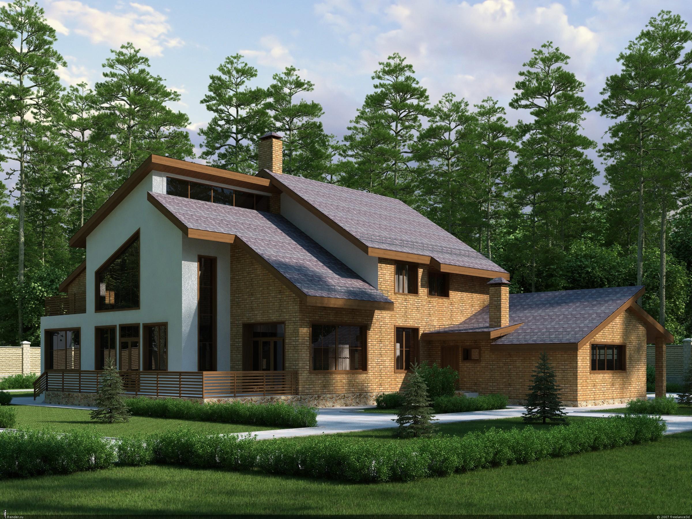 Строительство загородных домов и коттеджей под ключ. Разработка